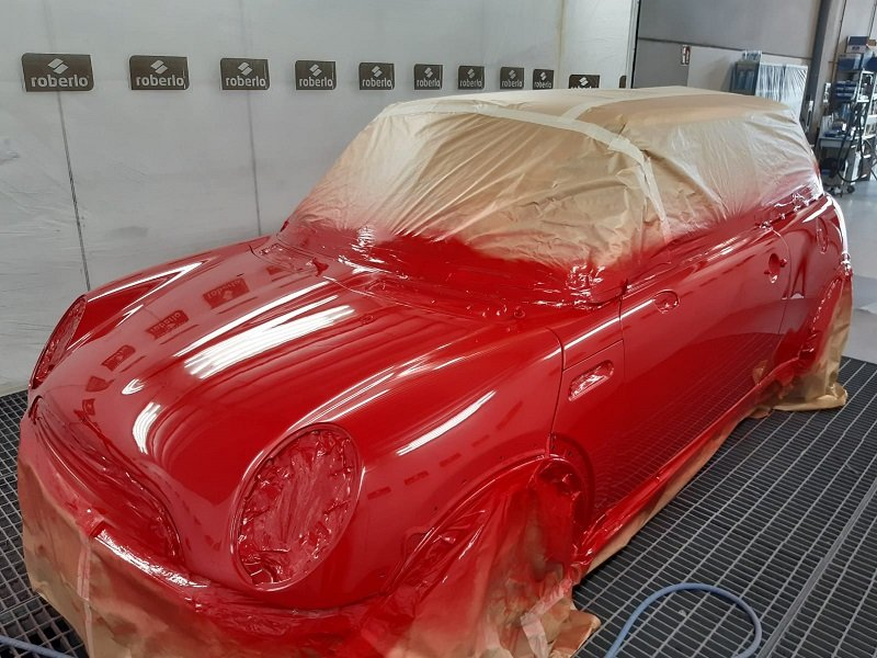 Case study: Mini Cooper refinishing with water-based paint | Crom Campus